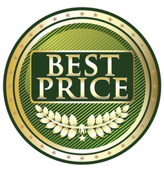 Best Price Green Label vector image vector image