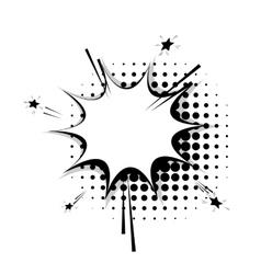 Blank template comic speech star bubble sudden vector