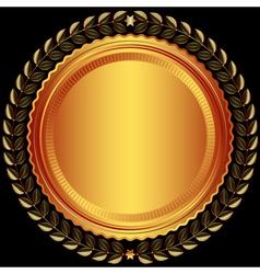 Bronze round frame vector image