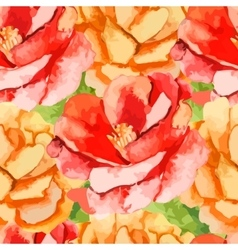 CamelliaRose Seamless pattern of flowers vector image