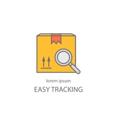 Cargo tracking logotype vector image vector image