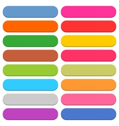 Flat blank web icon color rounded rectangle button vector