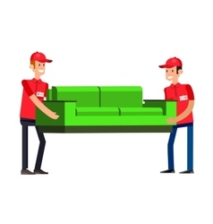 Funny pizza delivery boy vector image vector image