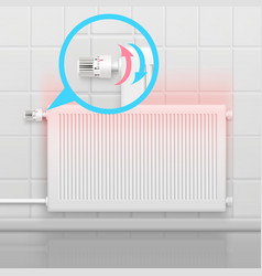 Heating radiator flat concept vector
