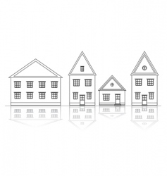 house views vector image