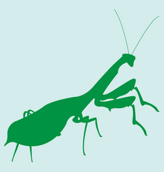 Image of a silhouette of a mantis vector