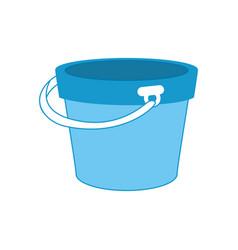 Isolated bucket of sand vector