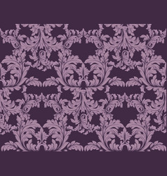 luxury baroque ornament decor baroque vector image vector image
