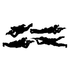 lying soldiers vector image