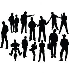 man silhouettes vector image vector image