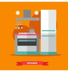 Modern kitchen interior in vector image vector image