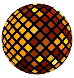 Orange mosaic ball vector image vector image