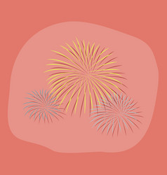Paper sticker on stylish background firework vector