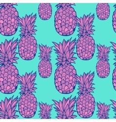 Pineapple pattern - vector