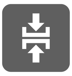 Press vertical direction flat squared icon vector