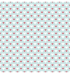 Retro abstract heart seamless pattern for r vector image vector image