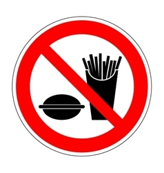 Sign no eat 1704 vector image