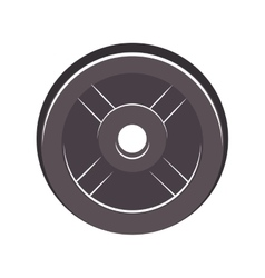 silhouette disc weights for training in gym vector image vector image