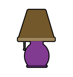 Table lamp light electricity decoration style vector