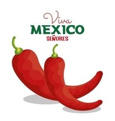 Viva mexico chili pepper icon graphic vector