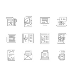 Web publications line icons collection vector image vector image