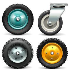 Wheelbarrow Wheel vector image vector image