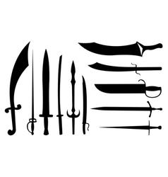 sword set vector image