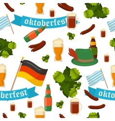 German festival seamless pattern Bavarian vector image