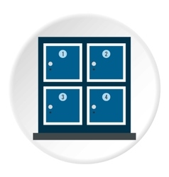 Cell for storage bags in store icon flat style vector