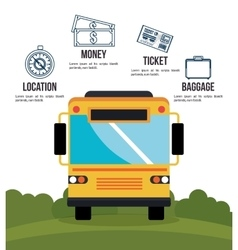 bus travel infographic icon vector image