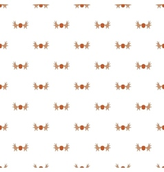 Deer antler pattern cartoon style vector