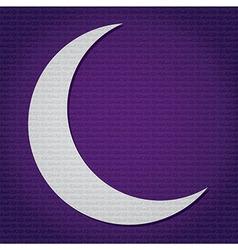 Crescent moon for ramadan vector