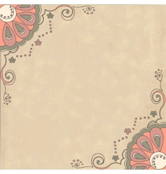 Retro background with ornamental pattern vector image