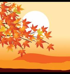 Sunset design vector