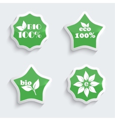 Glossy plastic buttons with environmental icons vector