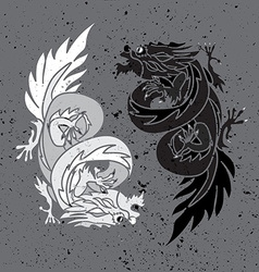 Chinese dragon oriental feng shui vector