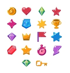 Computer Game Icon Set vector image