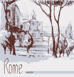 Graphic of rome italy poster vector