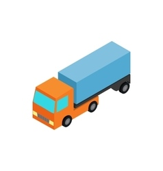 Truck icon isometric 3d style vector
