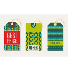 Hipster sale tags design trend green flash color vector