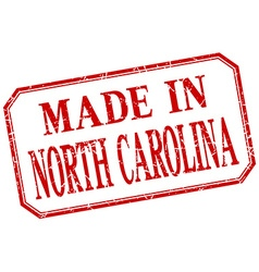 North carolina - made in red vintage isolated vector