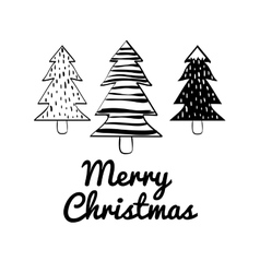 Pine tree icon merry christmas graphic vector