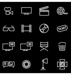 line cinema icon set vector image