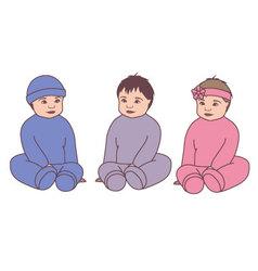 Babies-vintage-converted vector