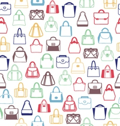bags pattern outline vector image
