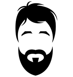 bearded young man vector image vector image
