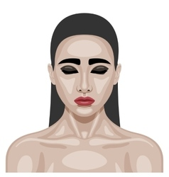 Beauty young woman with smoky eyes vector