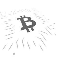 Bitcoin blockchain symbols vector