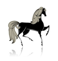 Black horse vector image vector image