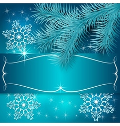 Blue Christmas Holiday Greeting Card vector image vector image